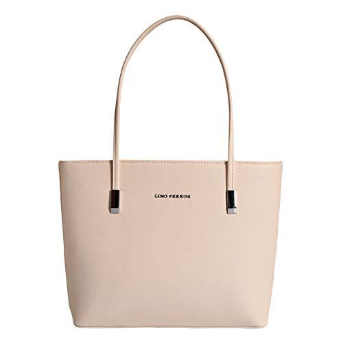 Lino Perros Blue Faux Leather Handbag (WHITE)