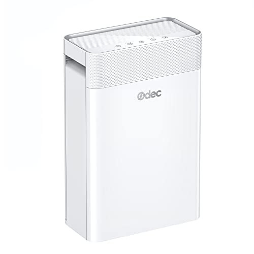 ODEC Air Purifier for Home Large Room 360 ft², 22dB Ultra Quiet Air Purifier for Bedroom, 5-in-1 H13 True HEPA Air Filter Remove 99.97% PM2.5, white