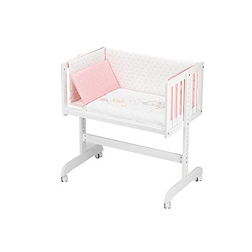 Minicuna Colecho Minana Elefante rosa, con textil