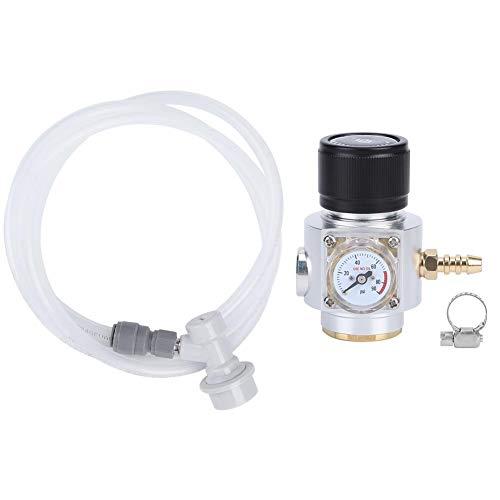 BYARSS CO2-Regler, CO2-Mini-Gasregler 0-90PSI Manometer mit 5/16-Zoll-Gasleitungs-Montagekit Zubehör