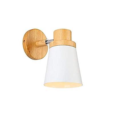 ☀ Dimensión: 130*200 mm; Color de la pantalla de la lámpara: blanco; Base de la bombilla: E27 (bombilla no incluida). ☀ Voltaje: AC110-240V; Potencia máxima: 60W; Sombra de lámpara ajustable; Estilo: Aplique moderno ☀ Apliques de pared con cabeza aju...