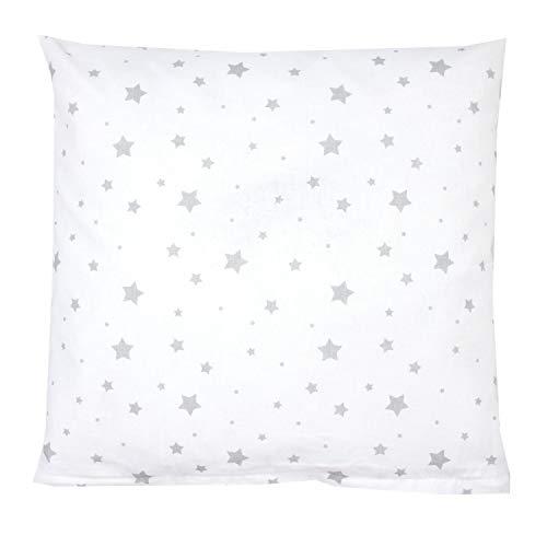 TupTam Kissenbezug Gemustert, Farbe: Sterne Weiß, Größe: 80x80 cm