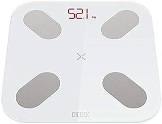 WXL Báscula de peso para baño con balanza digital para el suelo, balanza de grasa corporal, Bluetooth, electrónica, al aire libre, mini báscula inteligente con báscula de pesaje (color : S)