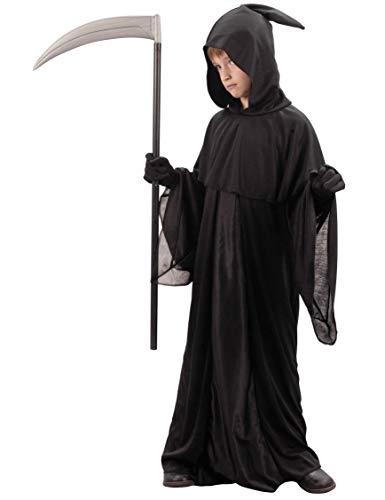 DEGUISE TOI Déguisement faucheur Noir Enfant Halloween - L 10-12 Ans (130-140 cm)
