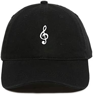 Tech Mrkt Music Note Baseball Cap Embroidered Cotton Adjustable Dad Hat Black product image