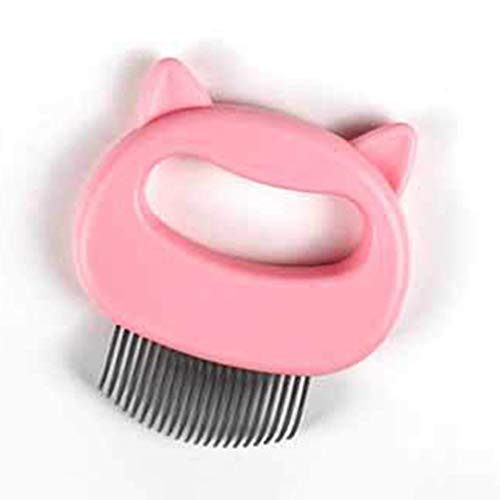 Cat And Dog Shaving Massage Comb Pet Hair Removal Massaging Shell Comb Special Shaving Artifact Pet Artifact Shell Comb (pink)