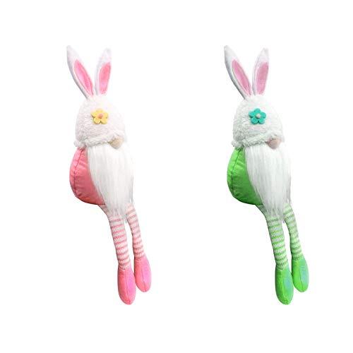 2 peluches de peluche, decoración de gnomos de Pascua, decoración para fiestas en el hogar, dulce enano escandinavo, regalo festivo para niños, regalo de Pascua (B)