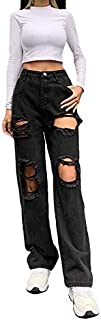 Pantaloni dritti in denim classico con jeans da donna