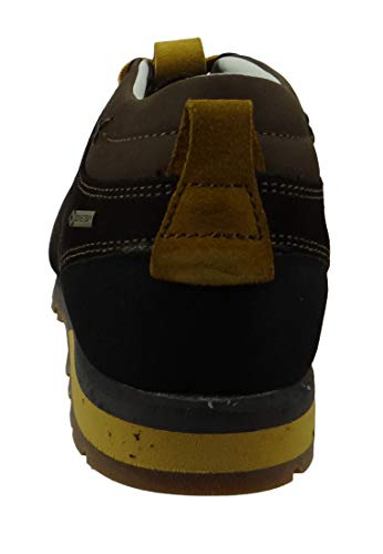 AKU Wanderschuhe Trekking 504.2-305 Bellamont II Suede GTX Dark Brown Yellow, Groesse:43 (9 UK)
