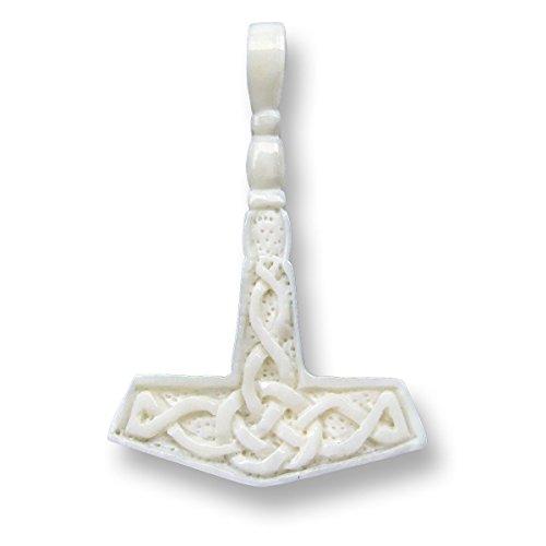 ISLAND PIERCINGS Mjölnir Thors Hammer Anhänger Echte Handarbeit inkl. Band PB200
