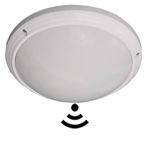 Deckenleuchte LED mit Bewegungsmelder Naturalweiß (4500K) 24W 2400Lm Wasserdicht (IP54) Runde Unterputzmontage für Bad Badezimmer Küche Schlafzimmer Flur Flur Balkon(24W Naturalweiß, Bewegungsmelder)