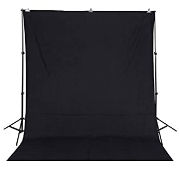 Black Fabricated Chromakey Backdrop Solid Color Black Photography Backdrop 5x7ft Background for Studio Video Photo Photography