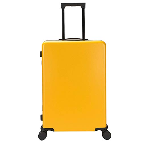 Luggage Carry-On, Lightweight Sturdy Durable Waterproof Small with Spinner Wheels Fashion Suitcase for Adults Student Tourism-43x23x65cm-yellow