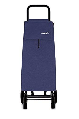 Garmol 14GP16 PO C3 Carro de Compra 4 Ruedas Plegable, Tela, Azul...
