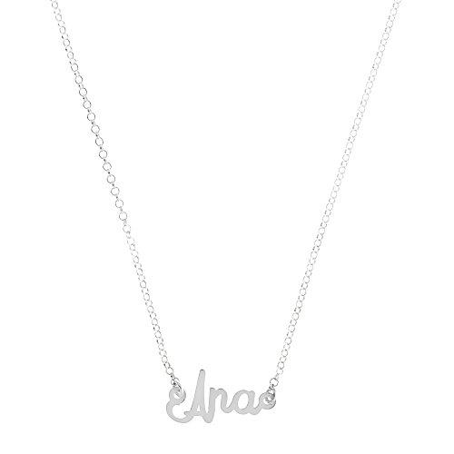 Córdoba Jewels | Gargantilla de Plata de Ley con diseño Ana Silver de 20x10mm.Largo 40cm.con Cadena para Ajustar.