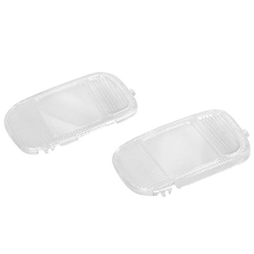 HIMIKI 2 Pcs Roof Map Dome Light Cover Overhead Console Map Reading Lamp Light Lens 5183271AA 5183270AA 74970 Compatible with Ram 1500 2500 3500 4500 5500 2002-2010 (Select)