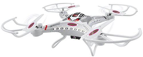 JAMARA 422004 - Catro HD Drone Kompass Flyback Turbo 2,4G - HD Kamera (720p), 4 GB SD-Karte, LED, Fernsteuerung mit LCD-Display von Mode 2 auf Mode 4 umschaltbar, 3 Flugmodi, 4 Kraftvolle, bis 40 KMh