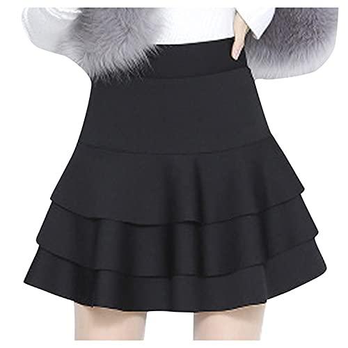 N\P Pantalones de seguridad de cintura alta falda Soli Casual