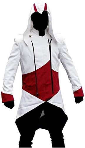 Connor Kenway Disfraz Assassins Creed 3 Chaqueta de mezclilla con capucha
