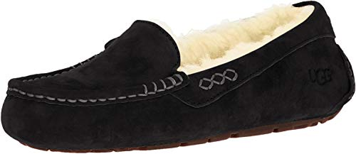 UGG Women's Ansley Moccasin, Black, 6