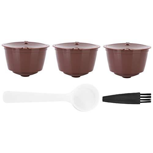 Filtro de café, cápsula de café recargable reutilizable, cápsula de café redonda de 3 piezas, portátil para Dolce Gusto para cafeterías, taza Nespresso, restaurante