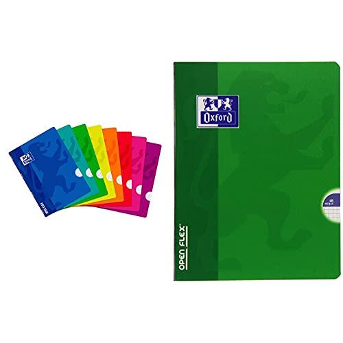 Oxford Libretas Tapa Plástico. Pack De 10 Unidades. A4. 48 Hojas. Cuadrícula 4X4 + Openflex Libreta, Cuadricula 4 X 4, 48 Hojas, A5