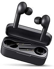 AUKEY Cuffie Bluetooth 5 Senza Fili Bassi Potenziati, Auricolari con Custodia da Ricarica 35 Ore di Tempo di Utilizzo, Microfoni Integrati, Prova di Sudore, Touch Control per Samsung iPhone Huawei