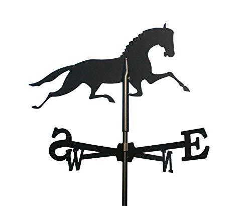 SvenskaV Wetterfahne Pferd klein in schwarz