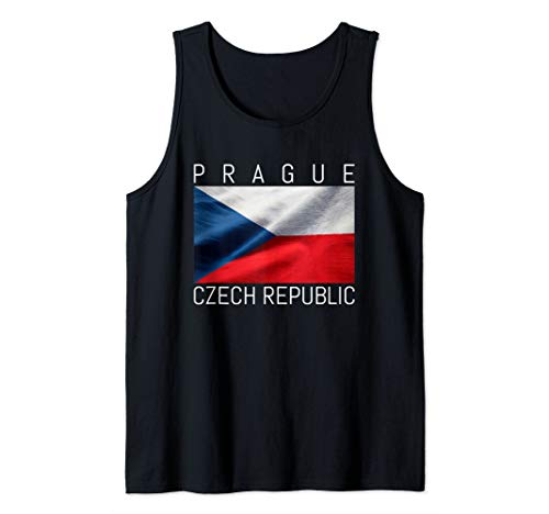 Prag schöne Flagge der Tschechischen Republik Souvenir Tank Top