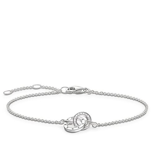THOMAS SABO Damen-Armband Together Forever 925 Sterling Silber Diamant Länge von 16.5 bis 19.5 cm D_A0006-725-14