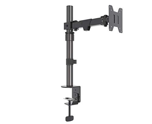 INOTEK DMA 120 - Soporte ergonómico de Escritorio para 1 Monitor de 14'' a 30'' (Altura Regulable, inclinable, articulada, orientable, giratoria, hasta 10 kg, VESA 75x75x100x100)