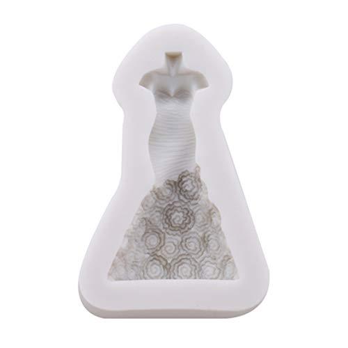Kyoidy 3D Jupe Princesse Robe en Silicone Moule De Mariage De Noël Fondant Moules À Gâteau Outils De Cuisson