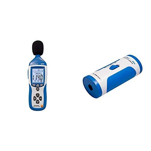 PeakTech 8005 Schallpegelmesser der Klasse 2 mit Aufzeichnung, kalibriert, Schallpegelmessung mit USB, dB Messgerät, Datenlogger, AC/DC Ausgänge + PeakTech 8010 Geräuschpegeltester