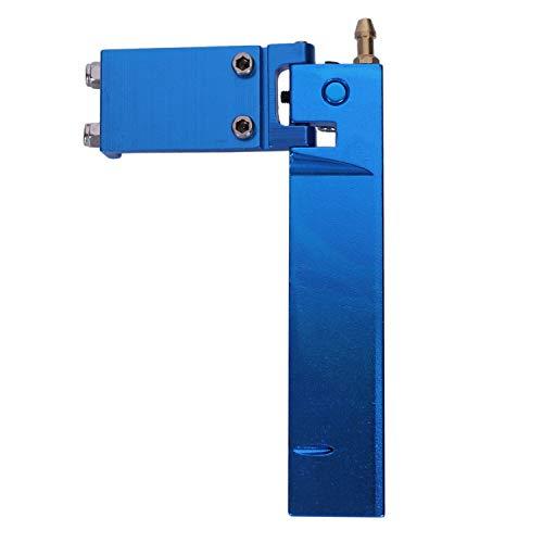 TOOGOO Timón Largo de Aluminio del Barco de RC con la Dirección Absorbente de la Recogida del Agua para Las Piezas del Modelo del Control Remoto del Gas Eléctrico CNC (Azul 95Mm)