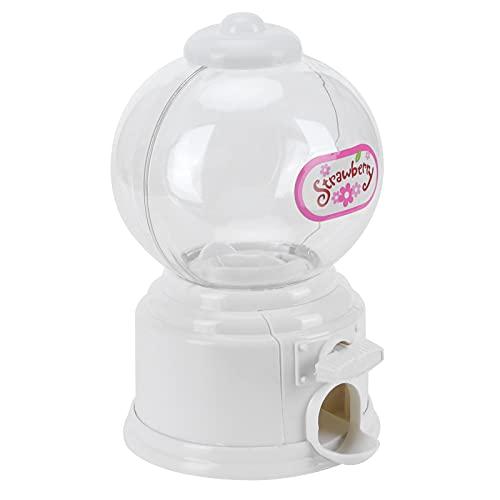 Máquina de Dulces, Caja de depósito de Dinero con dispensador de Dulces y nueces, Banco de máquina de chicles, Regalo para niños(Blanco)