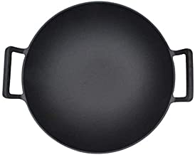Wok 32cm Old-Fashioned cast Iron pan Physical Non-Stick Double Ear Frying pan