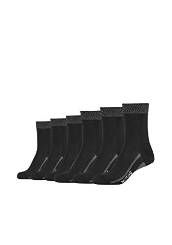 MUSTANG Damen Socken 6er Pack aus hochwertiger Bio-Baumwolle black, 39-42