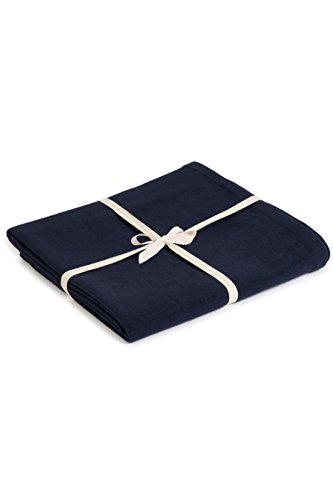Yoga Studio Manta unisex de algodón orgánico azul marino/YS (azul marino), 142 cm x 205 cm