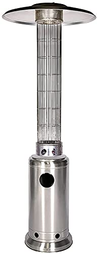 Calentador de Gas Para Patio Al Aire Libre, Calentador de Gas Propano para Jardín Doméstico de 47000 BTU, Estufa de Calentador Exterior de Pie Comercial Portátil