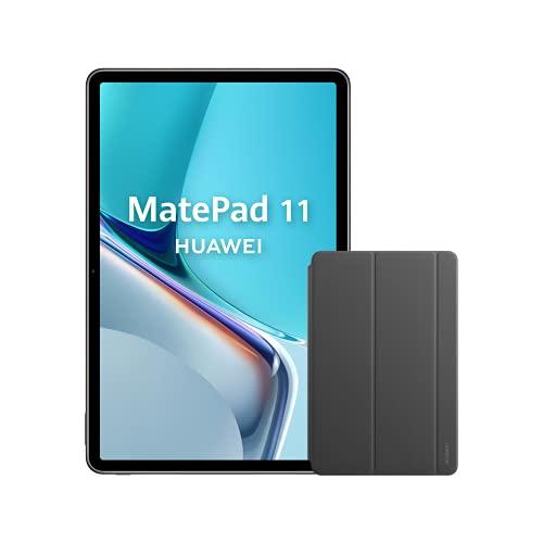 HUAWEI MatePad 11 + Custodia Huawei Folio Cover - Schermo 11' risoluzione 2.5K FullView 120Hz (6GB RAM, 64GB ROM, Qualcomm Snapdragon 865, Dual Tuv Rheinland, Wi-Fi 6), Grigio Opaco