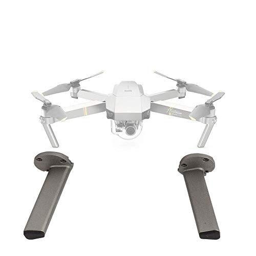 Dilwe Fahrwerksbein, Landing Gear Kit für Vordere Hintere Halterung Kompatibel mit DJI Mavic PRO RC Quadcopter(2 Stück Platinfarbe)