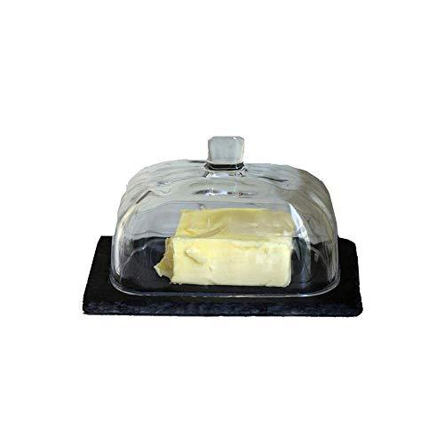 WEI-LUONG Comedor Los Platos Fry Erving Cesta de Mantequilla Cubierta de Cristal de la Mantequilla Mantequilla Box Box Postre Placa de Cocina for Frutas y Verduras Cocina