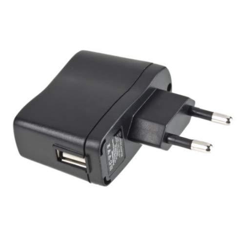 TOP CHARGEUR * Adaptador Alimentación Cargador Corriente 5V Reemplazo Recambio 220V AC a DC 5V 500mA 0.5A 2.5W Conector USB Marcado CE