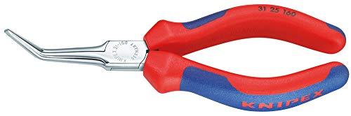 KNIPEX 31 25 160 Greifzange (Nadelzange) verchromt mit Mehrkomponenten-Hüllen 160 mm