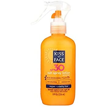 Kiss My Face Sun Spray Lotion SPF30 Sunscreen 8 oz