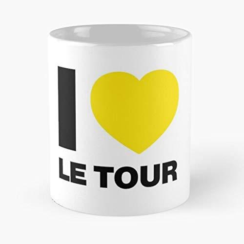I Love Le Tour Classic Mug - Ceramic Coffee White (11 Ounce) Tea Cup Nursing Appreciation Gifts For Nurse Practitioner.