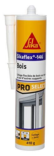 Sikaflex-146 Holz, weiß, Spezialkleber für Holz- und Mauerwerk, Kleben und Abdichten im Innen- und Außenbereich, 290 ml