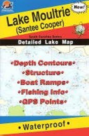 Lake Moultrie (Santee Cooper) Fishing Map (South Carolina Lake Maps