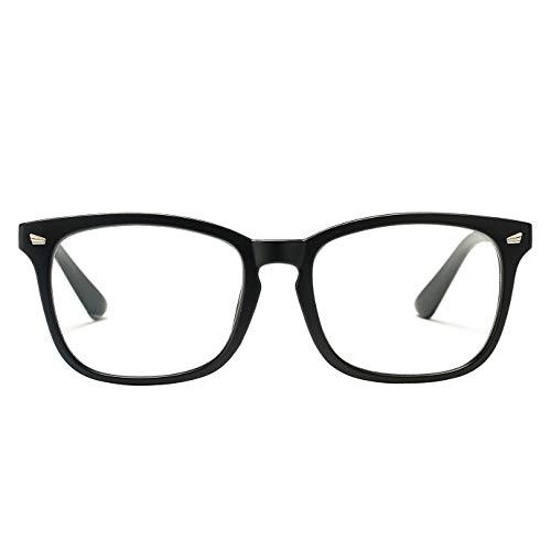 Pro Acme Blue Light Blocking Glasses for Women Men Square Computer Eyewear (Matte Black)