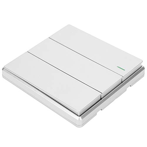 Plata Control remoto interruptor transmisor interruptor inalámbrico panel interruptor para control led en dormitorio para corredor